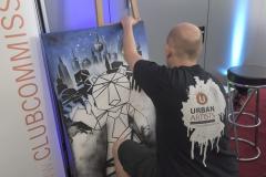 Livepainting & Show Graffiti Streetart für Event, Messe, Messestand und Veranstaltung Brand Berlin