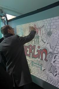 Bürgermeister Müller an der DGW von Urban Artists