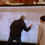 Gäste an unserer digitalen Graffitiwand