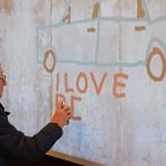 Gast an der Digitalen Graffitiwand